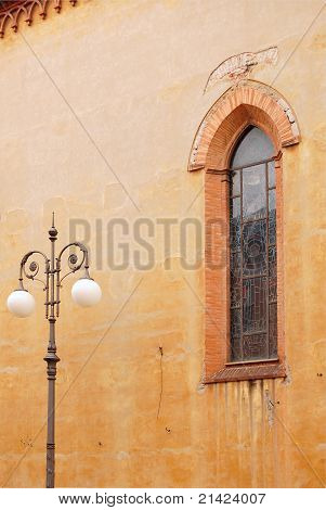 Lancet Window And A Lantern In Pisa