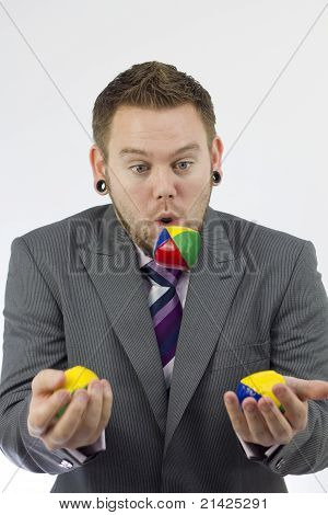 Businessman Juggling