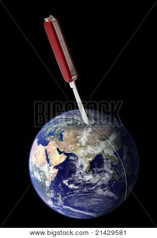 violent separation of Earth
