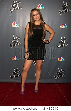 """LOS ANGELES - JUN 29:  Lily Elise arriving at the Wrap Party for The """"Voice"""" at Avalon on June 29, 2011 in Los Angeles, CA"""