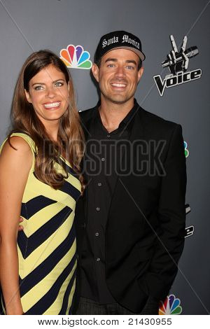 """LOS ANGELES - JUN 29:  Siri Pinter, Carson Daly arriving at the Wrap Party for The """"Voice"""" at Avalon on June 29, 2011 in Los Angeles, CA"""