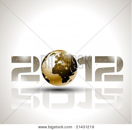 High tech and technology style 2012 happy new year celebration background for your posters, flyers and business presentations.