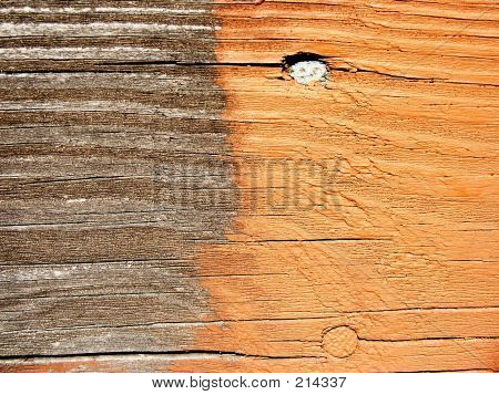 Deck Stain - Before & After