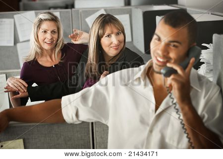 Women Flirting With Coworker