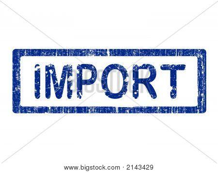 Sello de la oficina de Grunge - importación