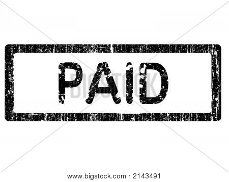 Grunge Office Stamp - Paid