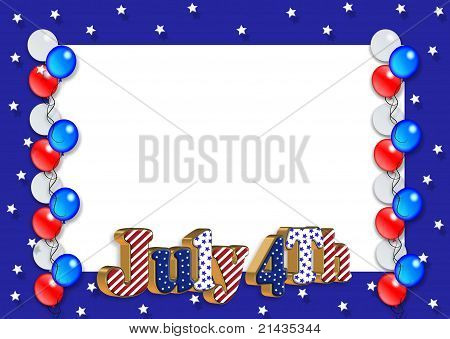July 4th Border Stars and Stripes