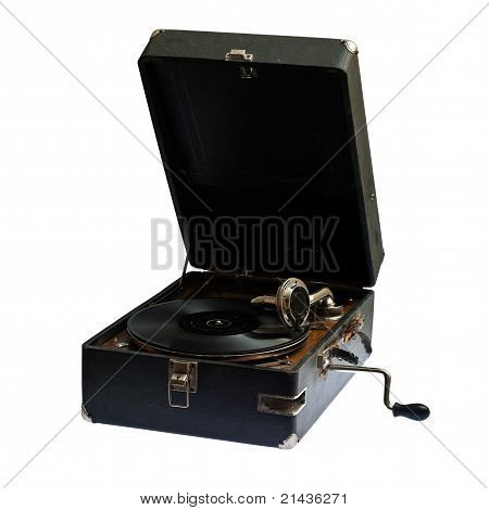 The sound of vintage... Very old gramophone