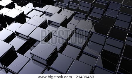 Array Of Shinny Cubes