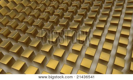 Array Of Golden Cubes
