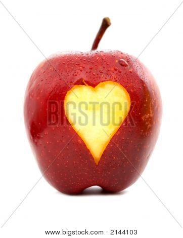 Apple com um coração