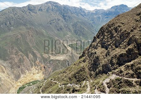 Trail Into Colca Canyon