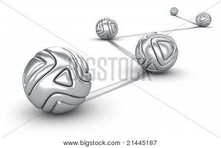interconnected silver balls