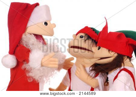 Santa Advising 2 Of His Elves