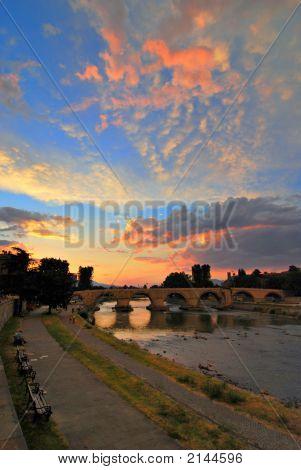 Stone Bridge Skopje Vertical