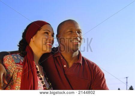 Couple Looking Forward