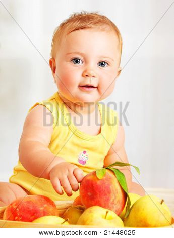 Little Baby Choosing Fruits