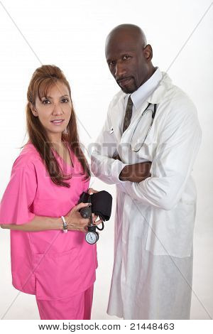 Multi Racial Healthcare Workers Team