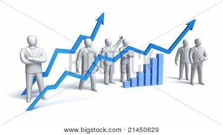 Conceito de mercado de ações, isolado