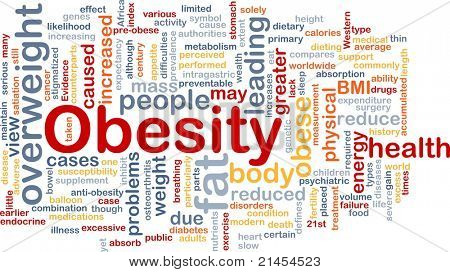 Background concept wordcloud illustration of obesity fat overweight