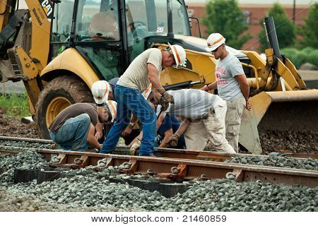 Men Working On Railroad Track