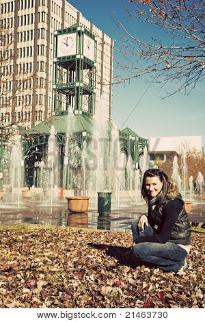 Girl Enjoying Fall In Memphis