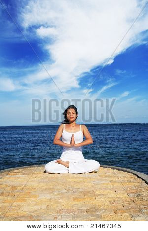 Meditation At Beach