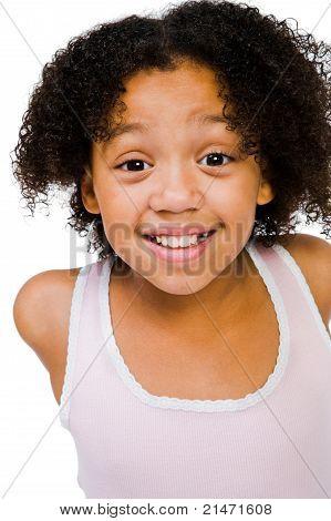 African American Girl Posing