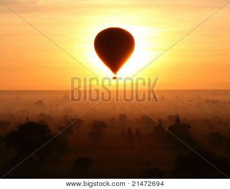 Eclipse in Bagan (Myanmar)