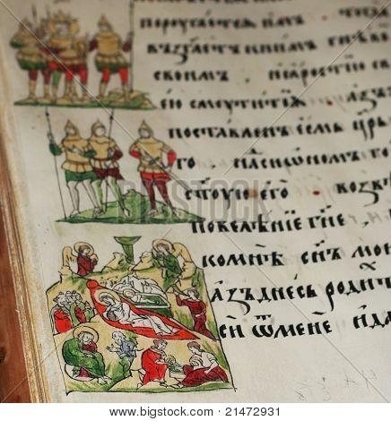 Alten slawischen Handschrift