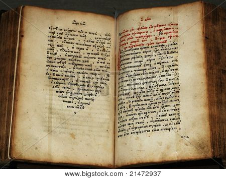 Antigo manuscrito eslavo