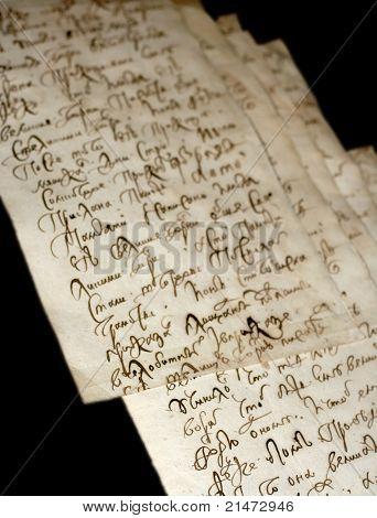 Antiguo manuscrito eslavo