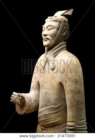 Xian China: Terracotta Warrior Statue (Archer)