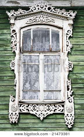 Decorative window in Rostovl (Russia)