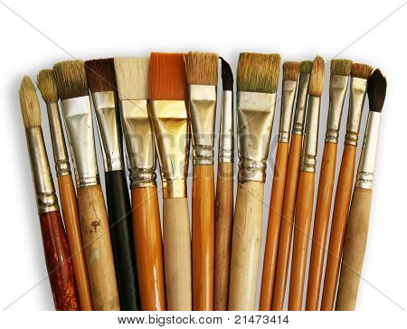 Brushes isolated on white