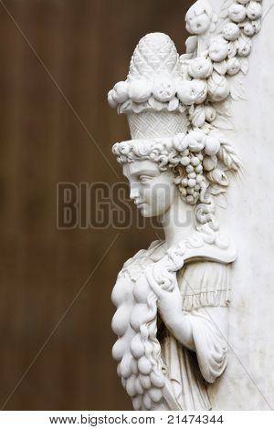 Beautiful Woman Sculpture - Piazza Senioria in Florence (Italy)