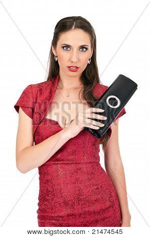 Sensual Woman In Red Dress