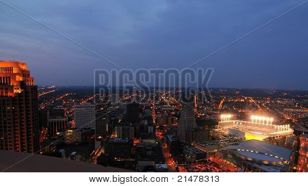 Cleveland Night Aerial
