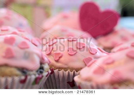 Pink Heart Muffins