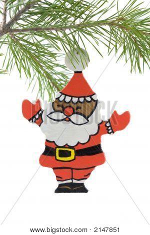 Navidad Santa madera pintadas