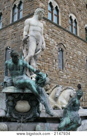 Fountain Of Neptune, Florence