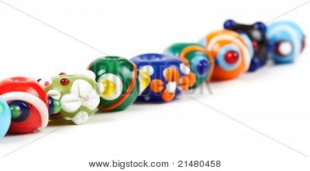 Colored Glass Beads Hand
