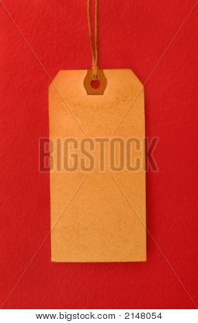 Vintage Tag On Red