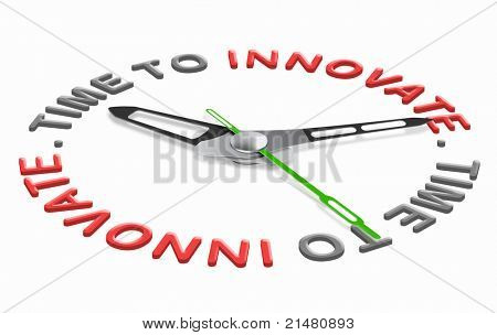 innovation time bright new idea leading to progress and success. Inspiration to innovate and change world