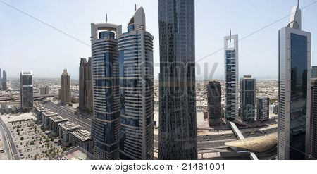 Sheikh Zayed Road Aerial View