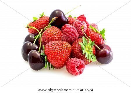 Various Types Of Red Fruit