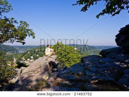 Alpinista Overlook Harpers Ferry paisagem