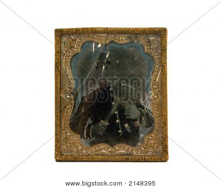 Ambrotype Photo Of Civil War Soldier