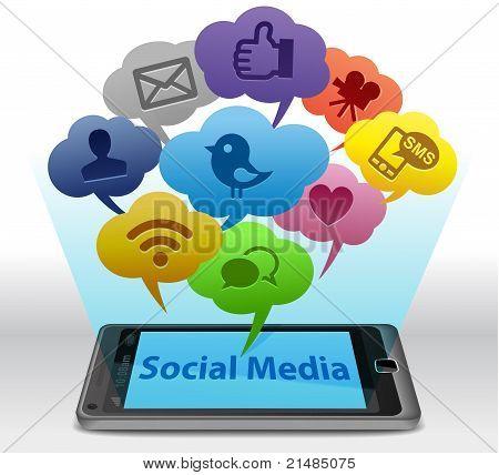 Social media en Smartphone