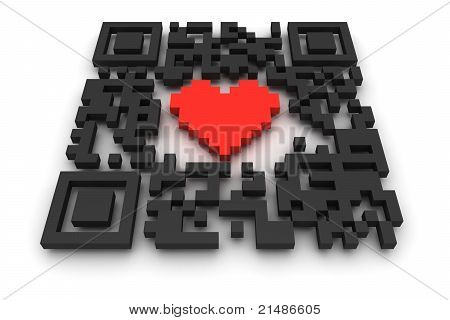 Qr-code With Heart